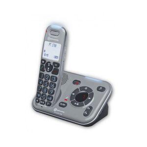 AMPLICOMMS Téléphone Amplifié PowerTel 2780 Répondeur Amplicomms - Gris - Publicité