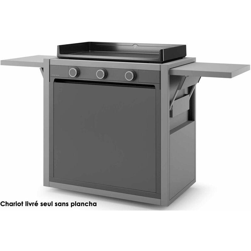 FORGE ADOUR chariot pour plancha gris - chmaf75 - Forge Adour