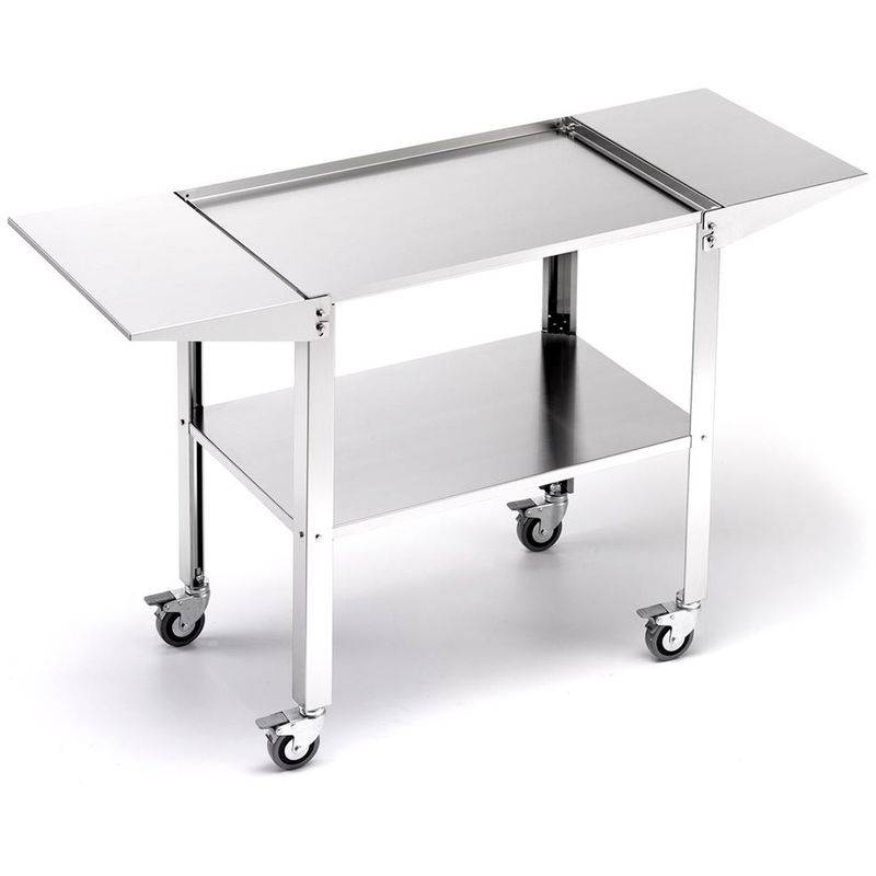 OMPAGRILL Chariot pro inox grand 46130 pour planche - Ompagrill