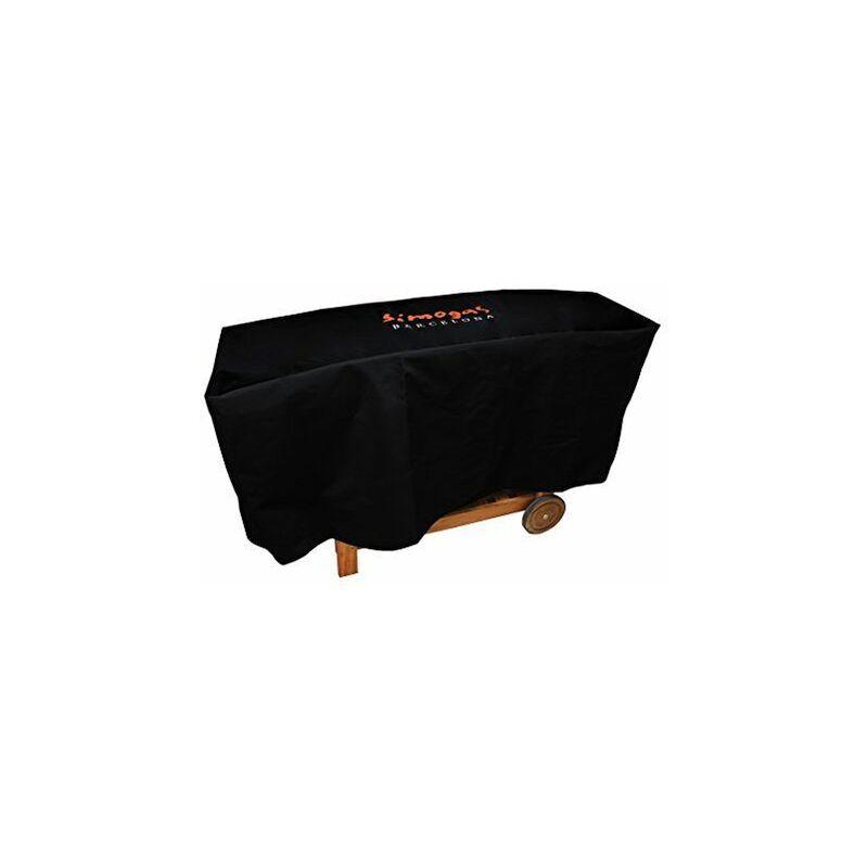 SIMOGAS HC-60 Housse de Protection pour Plancha sur Chariot PVC Noir 140 x 50 x 70 cm