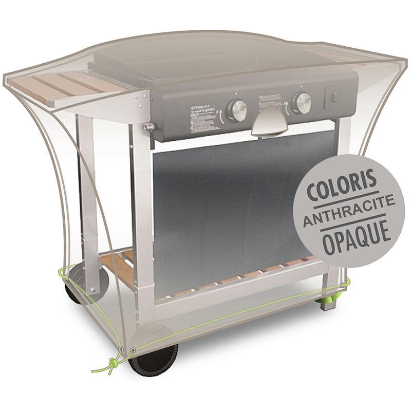 Jardideco - Housse pour plancha encastrée sur chariot 110 x 60 x 60 cm