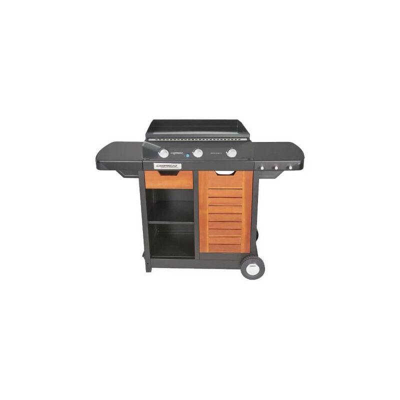 CAMPINGAZ Pack - Plancha à gaz - Chariot Premium Sorio 3 D - Campingaz