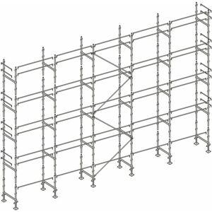 Echafaudages Stéphanois - Echafaudage façadier 160 m² lisses AL160 - Publicité