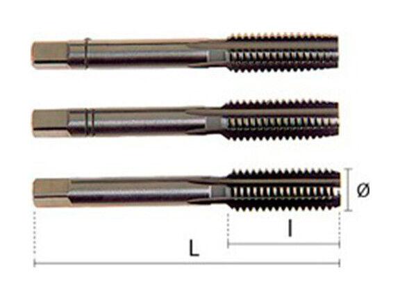 HEPYC 1 jeu de 3 tarauds - 3 passes - HSS DIN352 M45,00 x 4,50 x Lt. 160 x Lu. 70 mm
