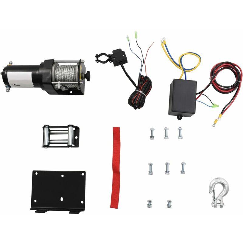 Youthup - 12 V Treuil électrique 1360 KG avec fil et plaque de montage