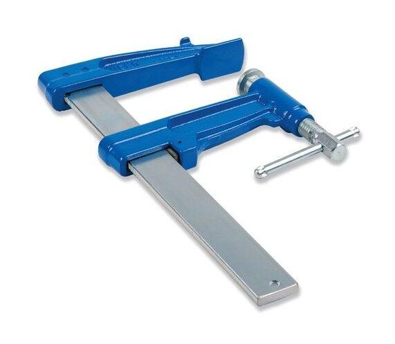 URKO 2 serre-joints à pompe 25 cm section 40 x 10 mm saillie de 220 mm et frein