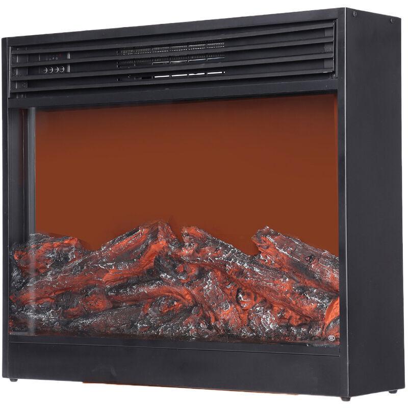 Augienb - 220V 1500W 80*70*28cm Chauffe-cheminée électrique intégré petit