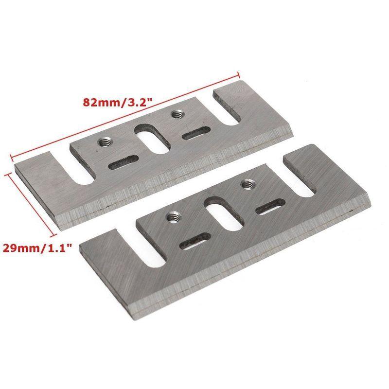 Mohoo - 2Pcs Electrique Raboteuse Lame de Rabot HSS Rechange 82x29x3mm Pr