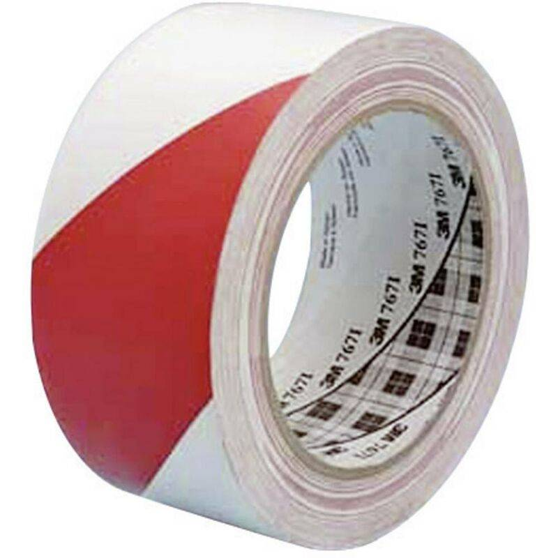 3M Ruban adhésif PVC 764i 70-0062-9988-0 rouge, blanc (L x l) 33 m x 50 mm résine