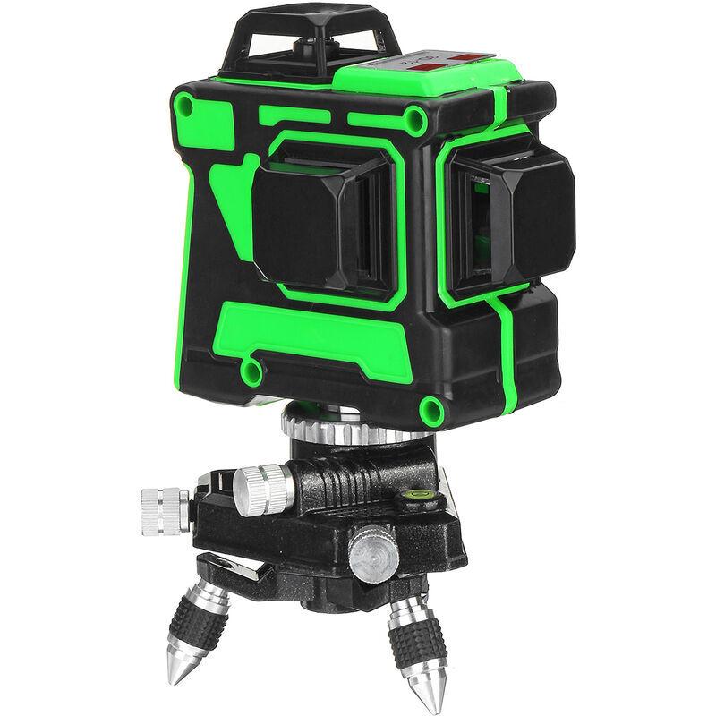 Augienb - 3D 12 lignes Mesure de niveau laser à lumière verte forte