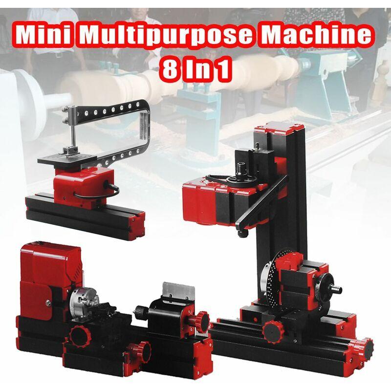 DRILLPRO 8 en 1 Mini Machine polyvalente bricolage modèle de menuiserie faisant l'outil