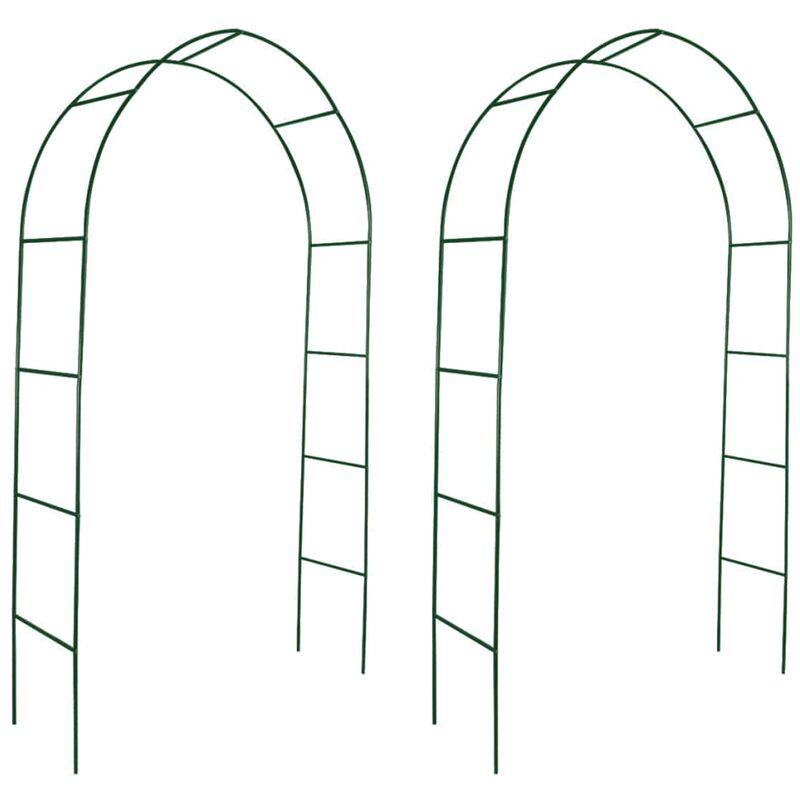 YOUTHUP Arche de jardin 2 pcs pour plantes grimpantes