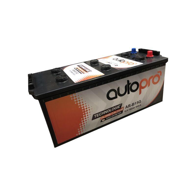 AUTOPRO Batterie 1er prix AR-B15G 180AH 1000 AMPS 513x223x223 +G - Autopro
