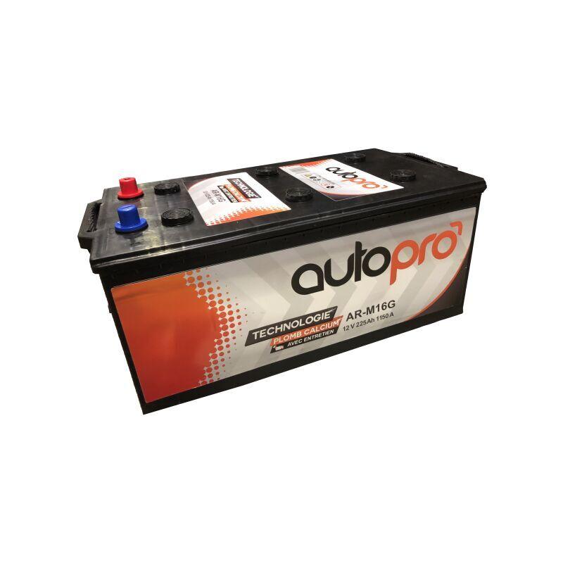 AUTOPRO Batterie 1er prix AR-M16G 225AH 1150 AMPS 513x276x242 +G - Autopro