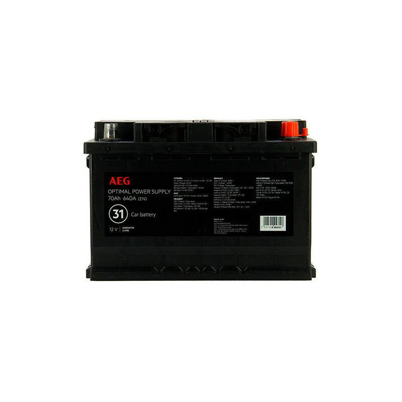AEG Batterie Optimal power supply n°31 - 640 A - 70 Ah 12 V - AEG - -