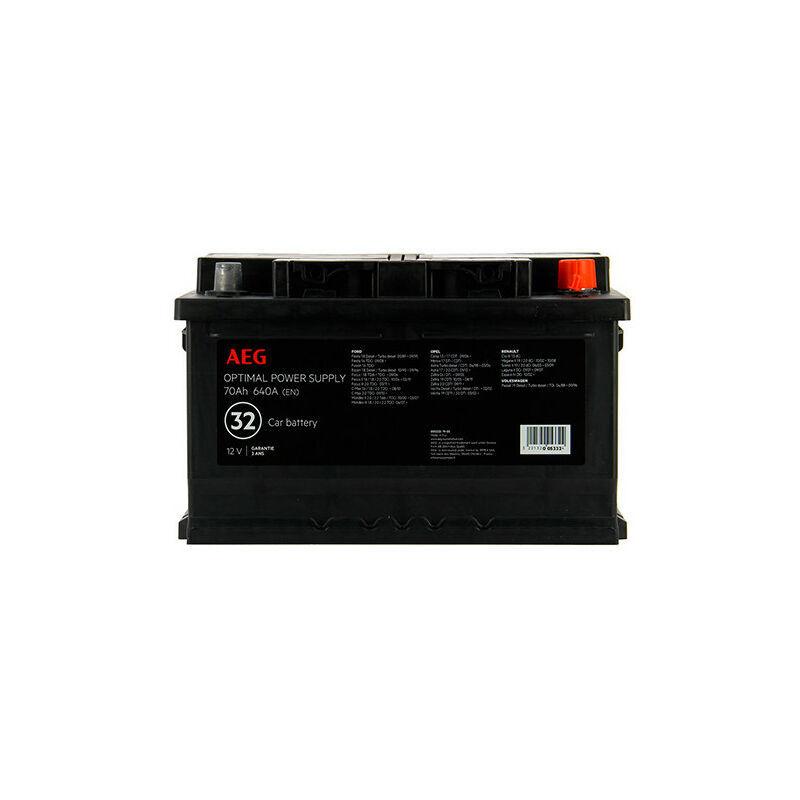 AEG Batterie Optimal power supply n°32 - 640 A - 70 Ah 12 V - AEG - -