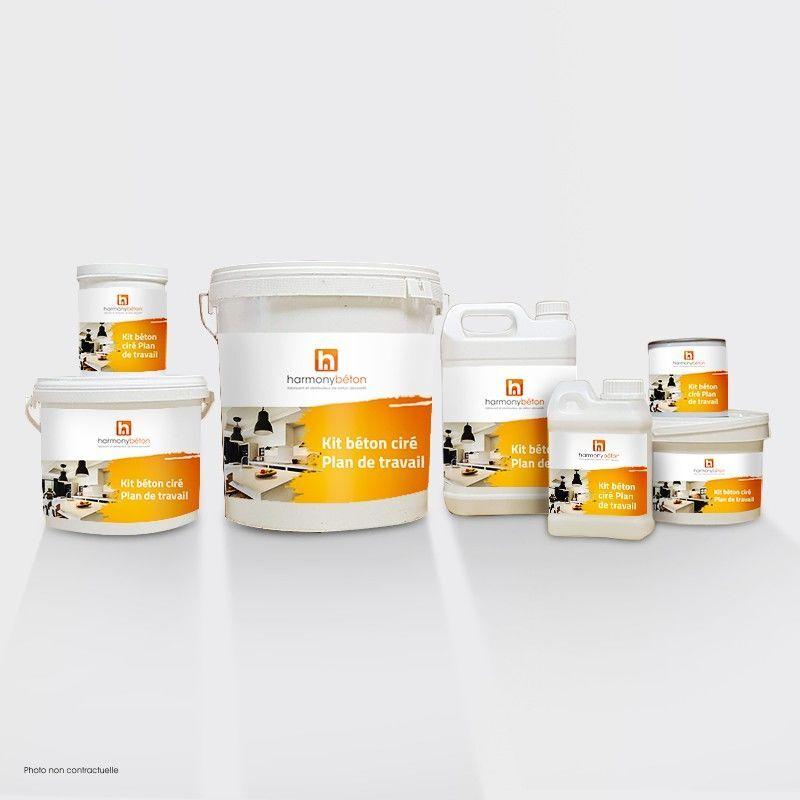 Harmony Beton - Kit béton ciré - Plan de travail carrelé - Brillante Kit 5 m²