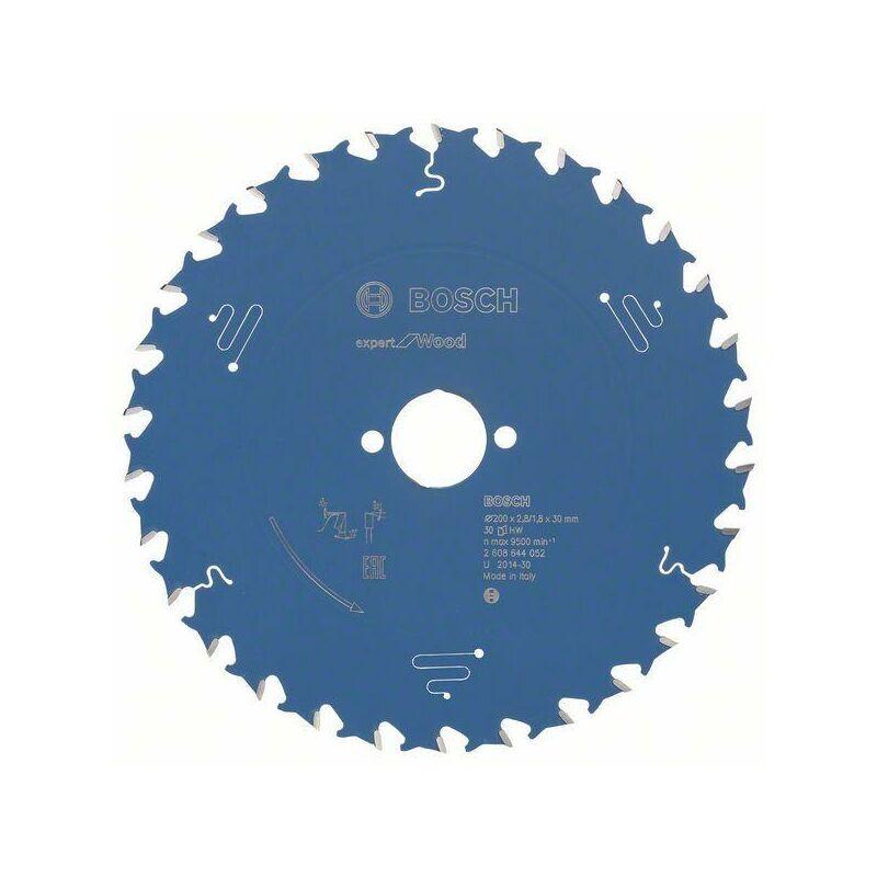 Bosch Lame de scie circulaire Expert for Wood, 200 x 30 x 2,8 mm, 30 dents