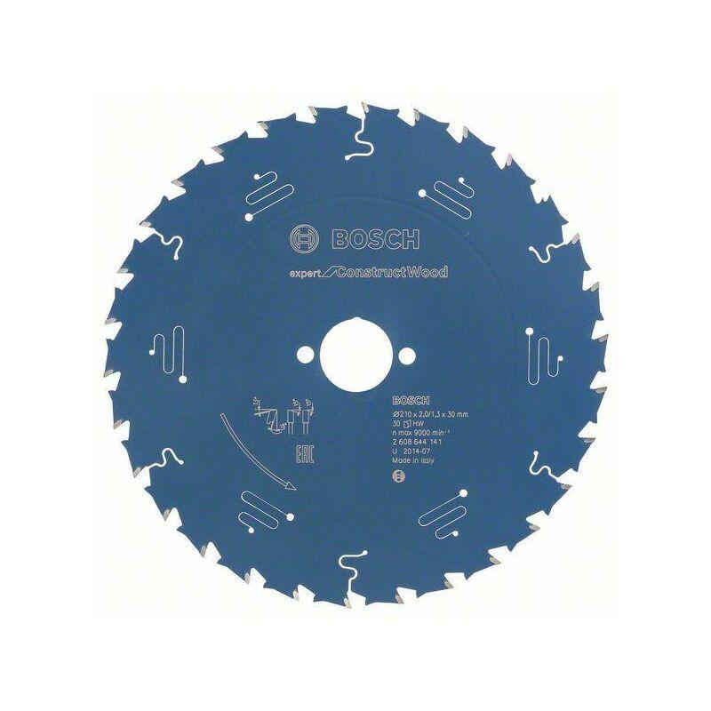 Bosch Lame de scie circulaire Expert for Construct Wood, 210 x 30 x 2,0 mm, 30