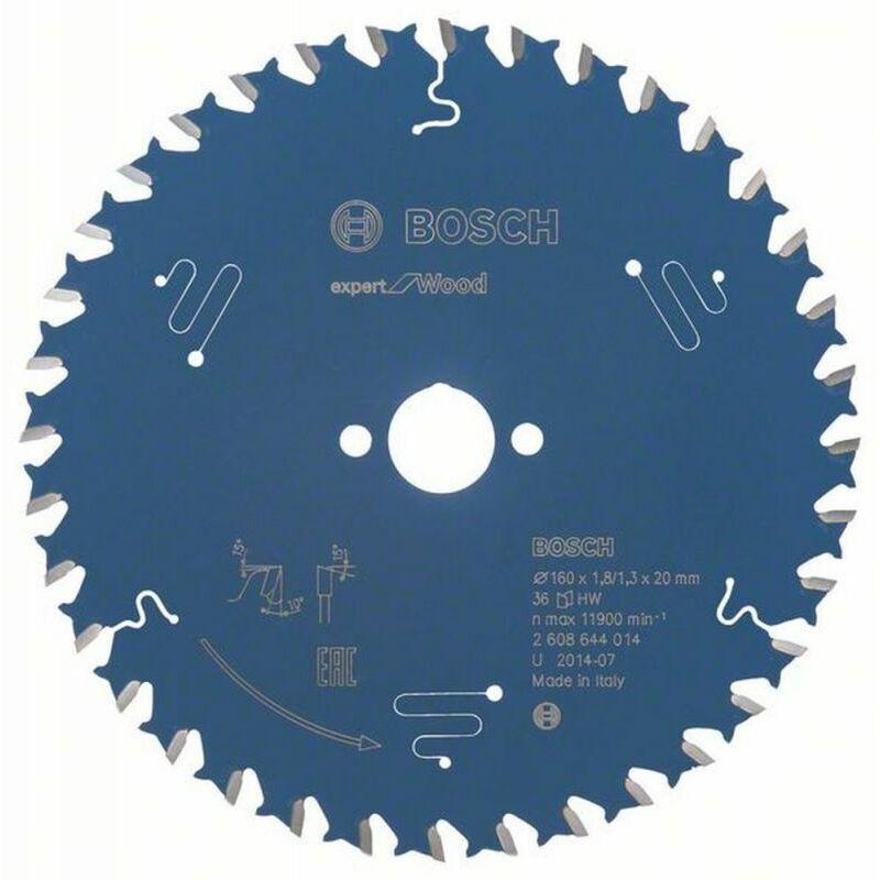 Bosch Lame de scie circulaire Expert for Wood 160 x 20 x 1,8/1,3 x 36