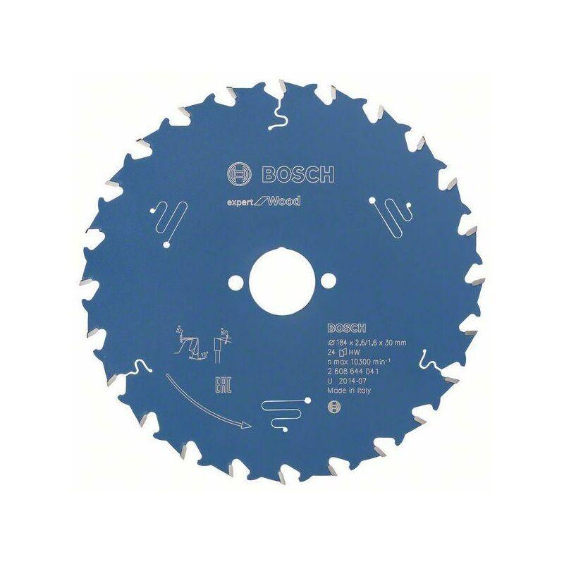 Bosch Lame de scie circulaire Expert for Wood 184 x 30 x 2,6 mm, 24 dents