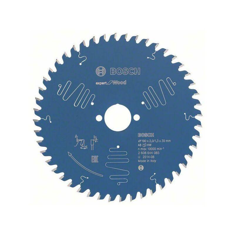 Bosch Lame de scie circulaire Expert for Wood 190 x 30 x 2,0 mm, 48