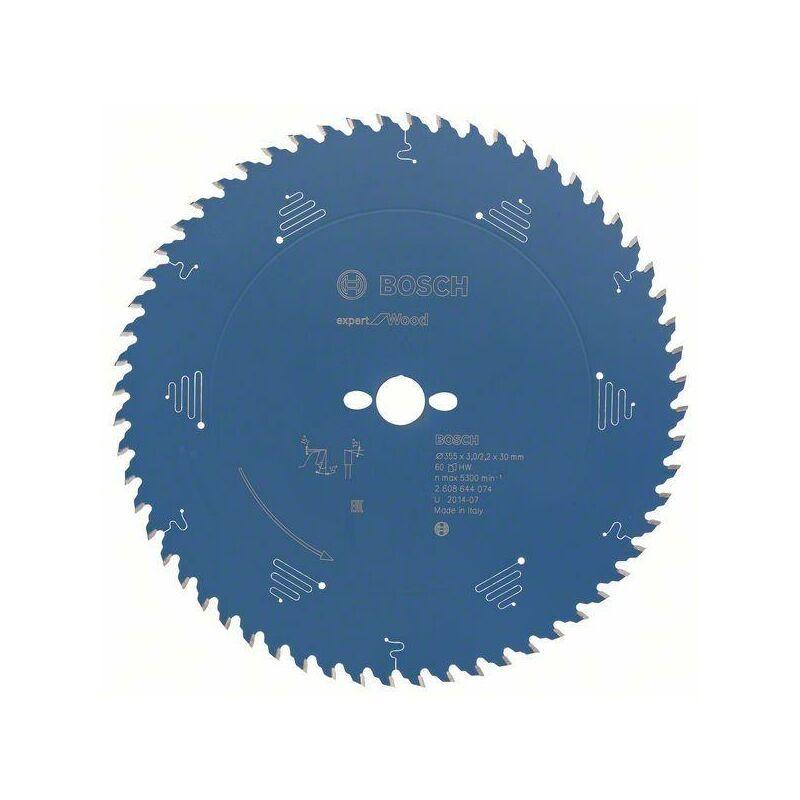 Bosch Lame de scie circulaire Expert for Wood, 355 x 30 x 3,0 mm, 60 denst