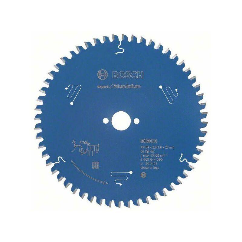Bosch Lame de scie circulaire Expert for Aluminium, 184 x 20 x 2,6 mm, 56