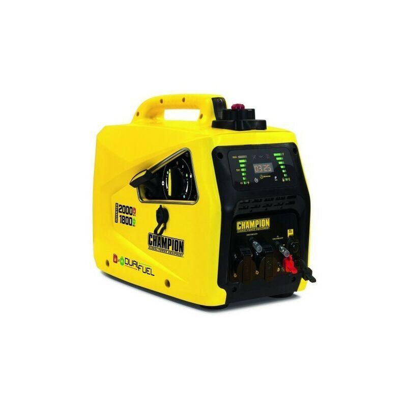 CHAMPION Groupe électrogène Inverter insonorisé essence / gaz 2500W 82001I-E-EU-DF