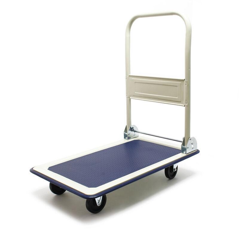 WILTEC Chariot à plateforme rabattable jusqu'à 300kg Transport Équipement Entrepôt