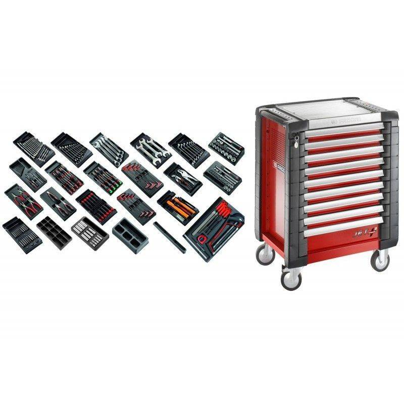 Facom - CM.230 Sélection tous métiers 230 outils et servante de 9 tiroirs 9