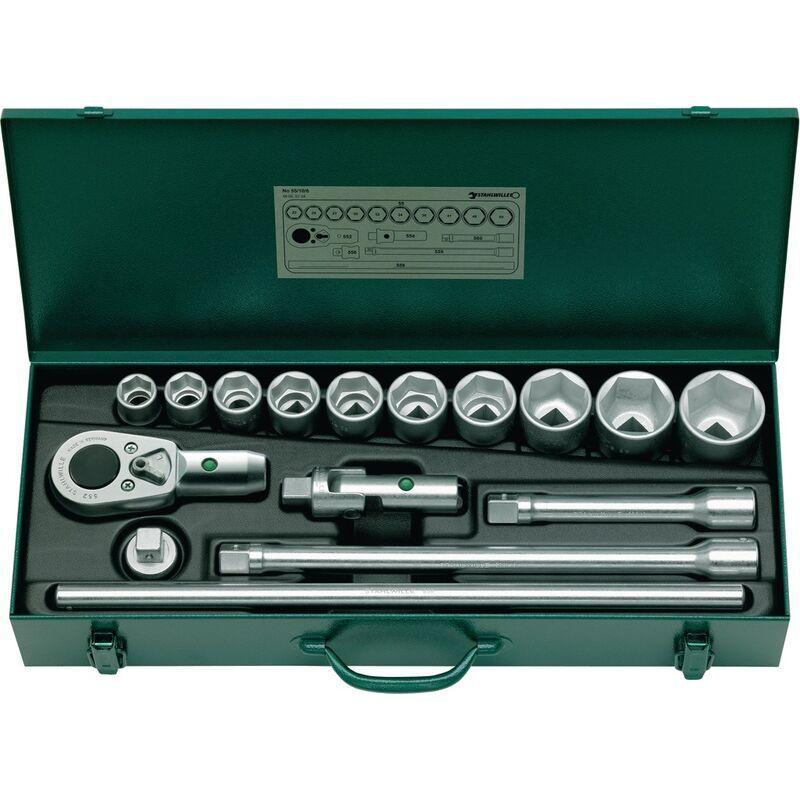 Stahlwille - Jeu de clés à douille 55/10/6 3/4 po. 16 pcs. ouv. 22-50 L. 580 mm
