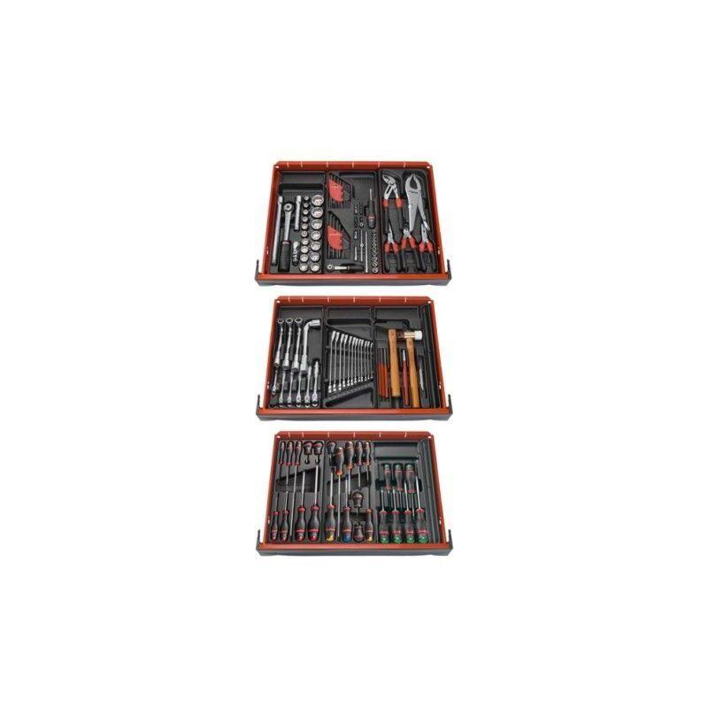 FACOM Composition 9 modules 3 tiroir 136 outils mécanicien servante FACOM 1423.08