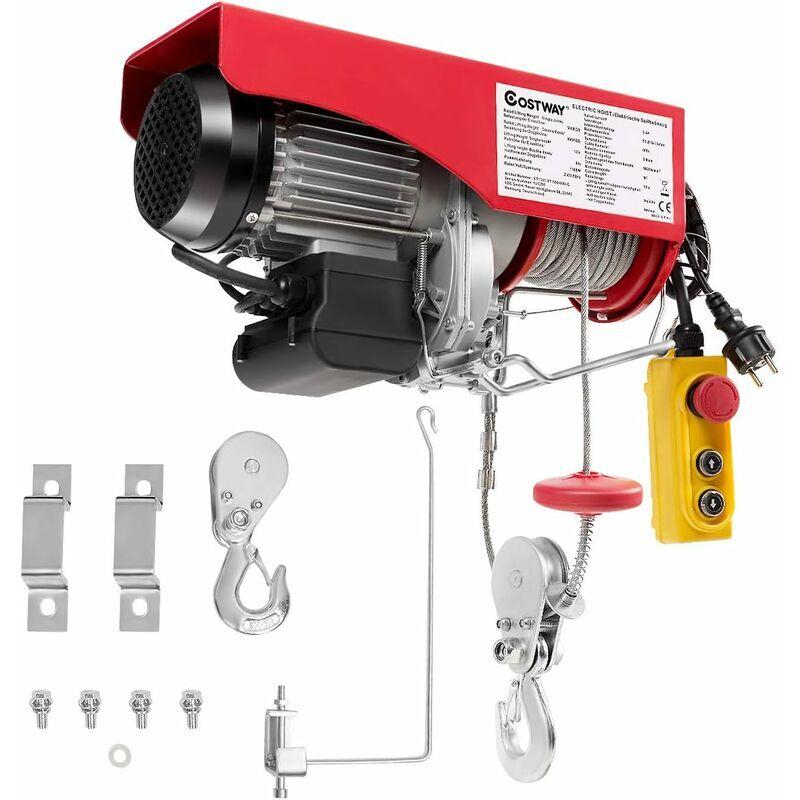 COSTWAY Treuil Electrique-Capacité de Charge 500KG/ 999KG 230V Grue Aérienne avec