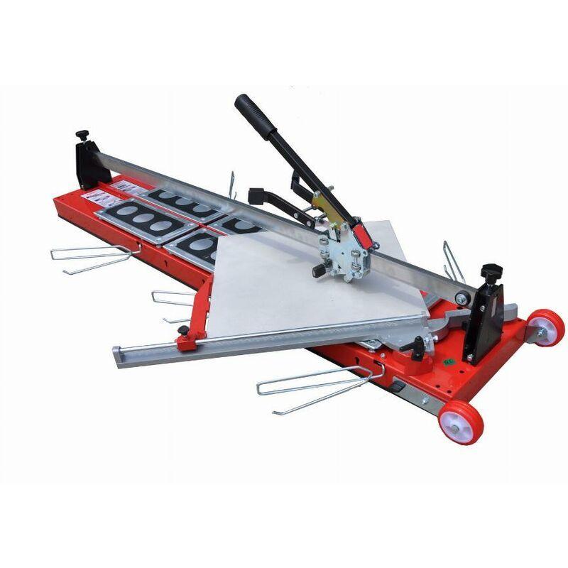 HEKA Coupe-carreau GigaCut Plus 1350mm hauteur réglable pieds et guide laser