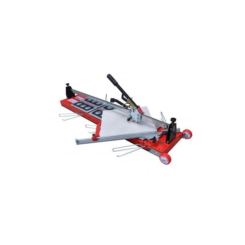 HEKA Coupe-carreau GigaCut Plus 1600 mm hauteur réglable pieds et guide laser