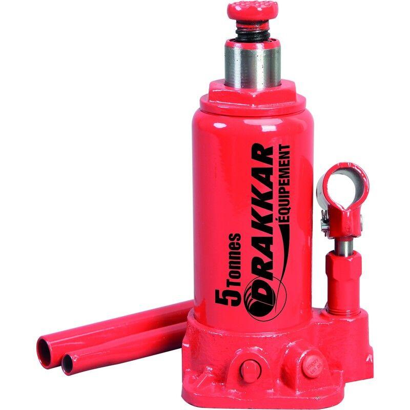 DRAKKAR EQUIPEMENT Cric bouteille hydraulique corps en fonte 5 tonnes - S13005