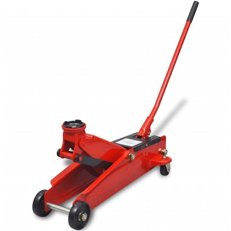 Youthup - Cric de plancher hydraulique à profile bas 3 tonnes Rouge