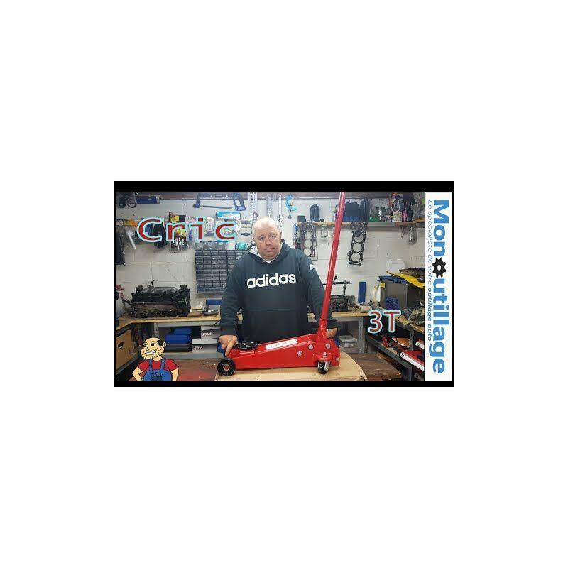 Kroftools - Cric Hydraulique 3 tonnes de 145 à 525 mm, économique et robuste