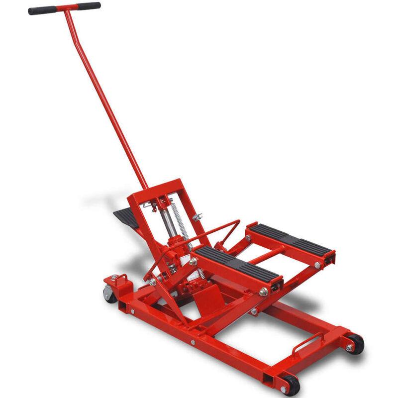 Youthup - Cric hydraulique de moto / VTT 680 kg Rouge