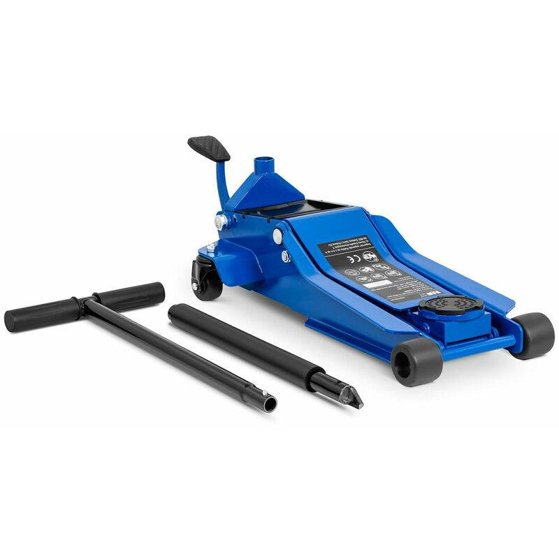 HELLOSHOP26 Cric rouleur hydraulique voiture mobile roulant professionnel atelier 3 000 kg