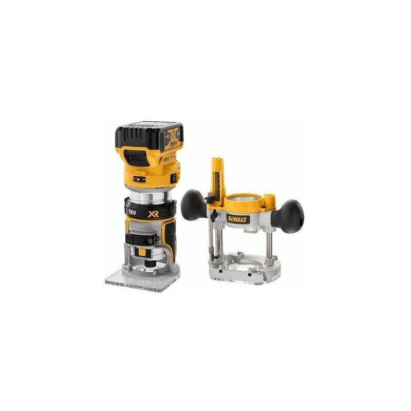 DeWalt - Affleureuse et défonceuse XR 18V 8mm (1/4') Brushless 2x5Ah Li-Ion