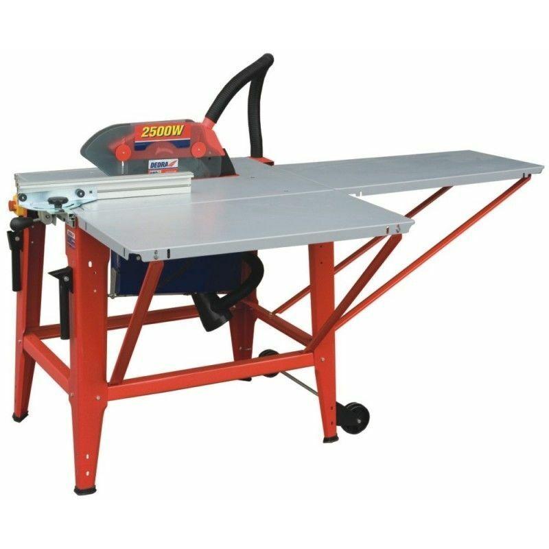 HUCOCO DTOOLS   Scie sur table électrique avec piétement   Puissance 3400 W   Scie