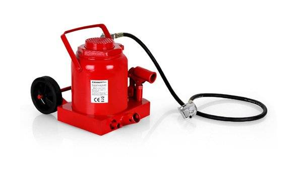 EBERTH 50 T Cric bouteille pneumatique et hydraulique (Hauteur 255 - 405 mm, Soupape