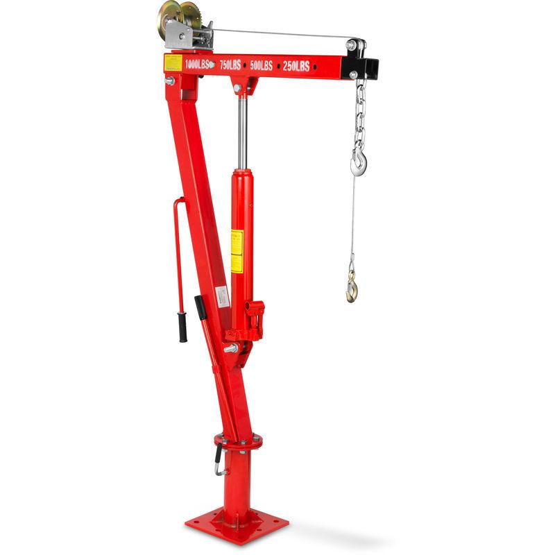 Eberth - 450 kg Grue de levage hydraulique avec Treuil (Chaîne et un Crochet,