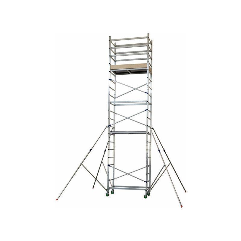 ECHAFAUDAGE DIRECT - MATISERE A. Echafaudage domestique - Hauteur de travail maximale de 6.20m.