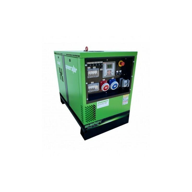 ENERGY+ ENERGY Groupe électrogène diesel 12.2 KVA 400V EY-12,5TDE-SA - Vert