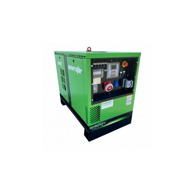 ENERGY+ ENERGY Groupe électrogène diesel 7 KVA 400V EY-7TDE-SA - Vert