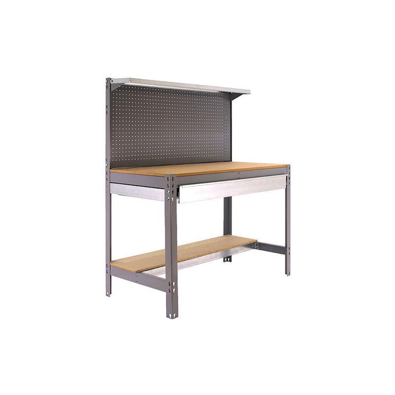 SIMONRACK Etabli 3 niveaux/1 tiroir 875 Kg L. 1210 x Ht. 1445 x P. 610 mm KIT SIMONWORK