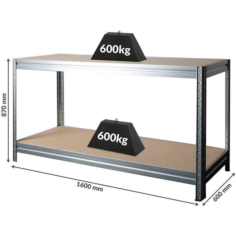 CERTEO Établi réglable en hauteur   Charge max. 600 kg   HxLxP 870 x 1600 x 600 mm